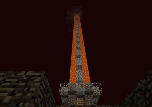 Looking up from the nether roof