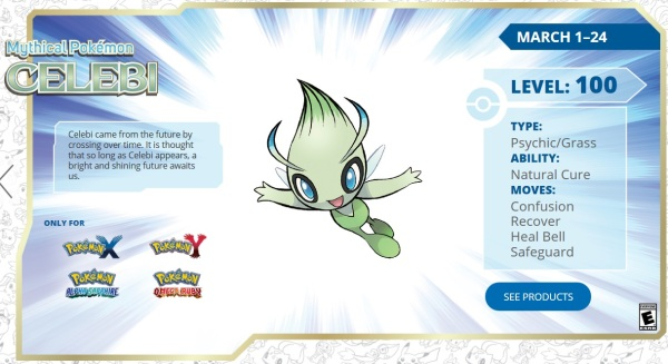 It is Celebi time