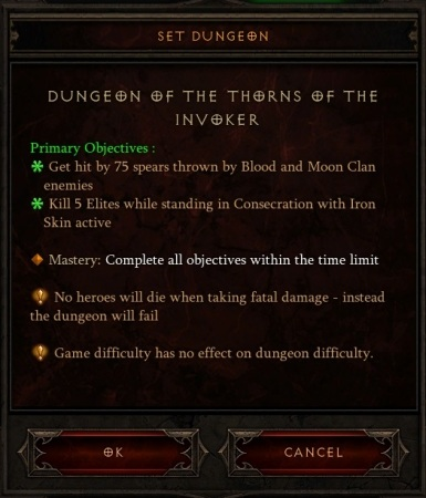 Thorns of the Invoker set dungeon requirements