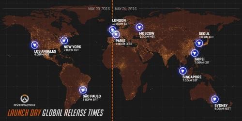 Ovwerwatch launching in a time zone near you