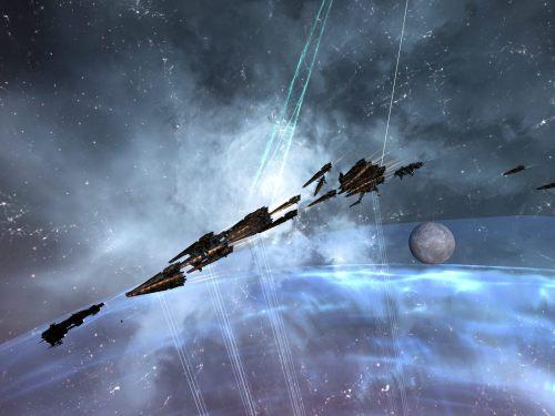Hurricane fleet blazing away at the stick
