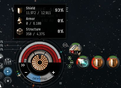 No armor, 8% hull, and heat damage on the hardeners