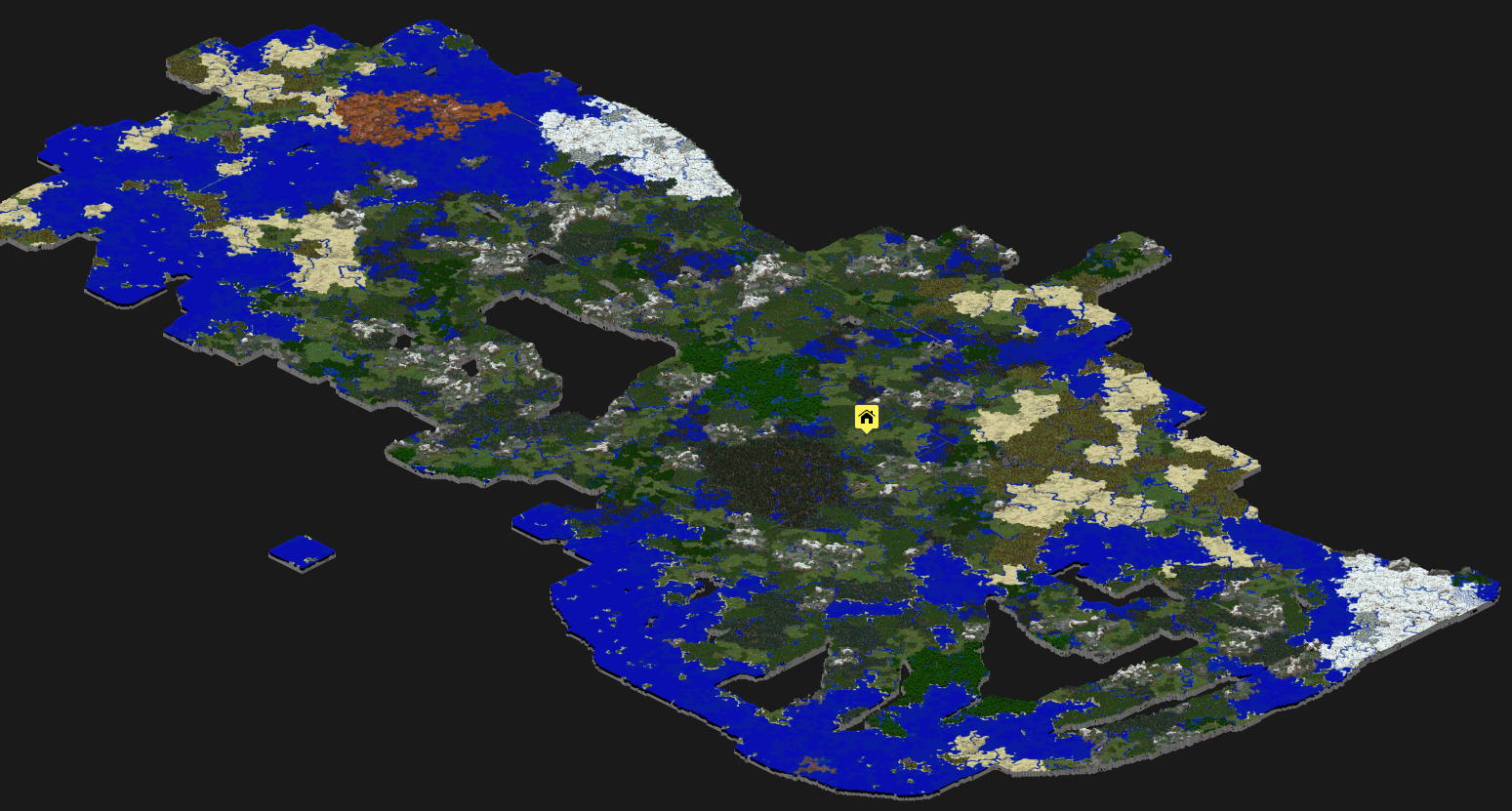 Minecraft and the map room the ancient gaming noob the current ish map of our world publicscrutiny Image collections