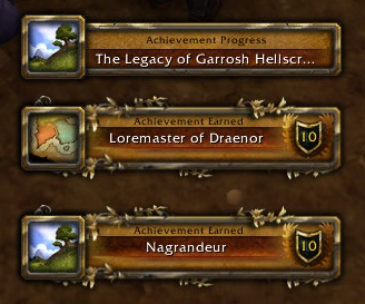 Always Garrosh, always achievements I guess...