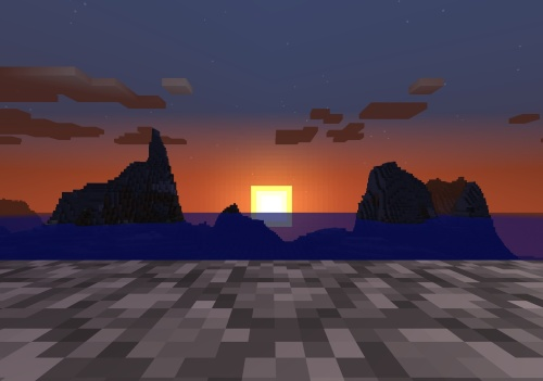 Also a pretty Minecraft sunset