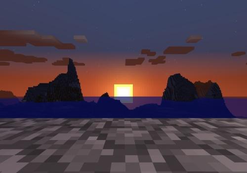 Also a pretty Minecraft sunset