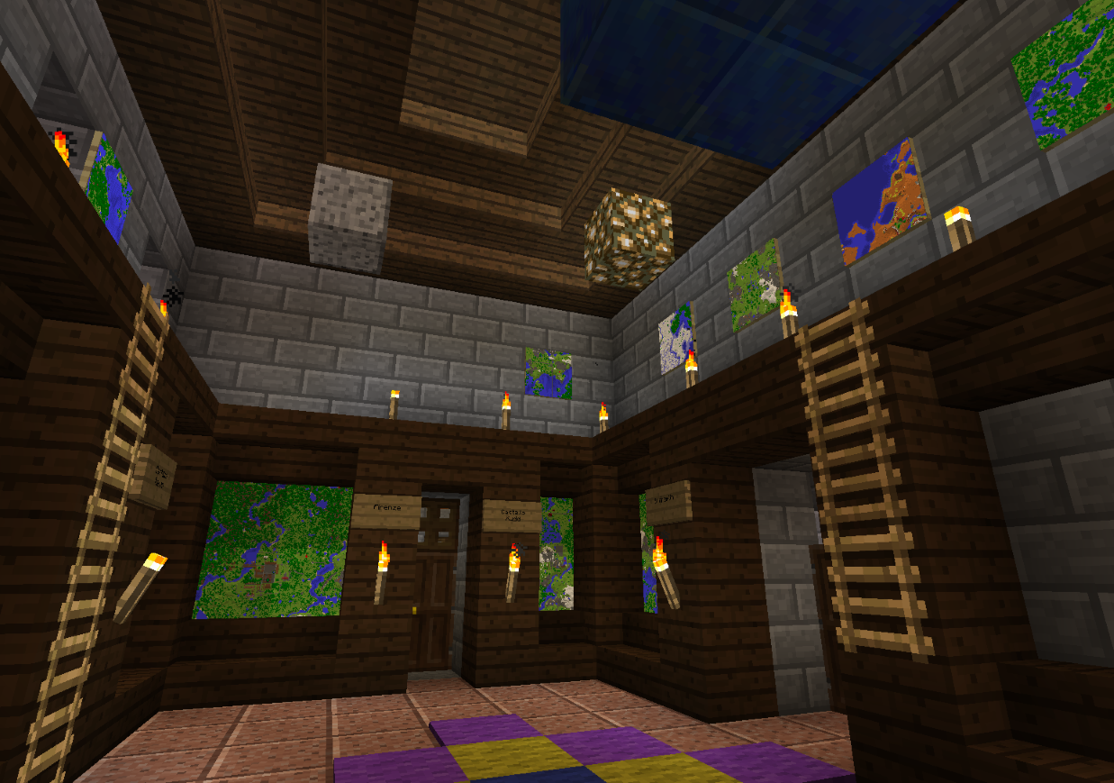 Minecraft and the map room the ancient gaming noob for Minecraft dining room designs
