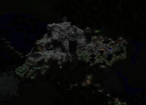 Xydd's castle lit