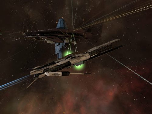 Confessors firing on the Astrahus