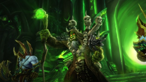 Gul'dan getting his fel mojo on