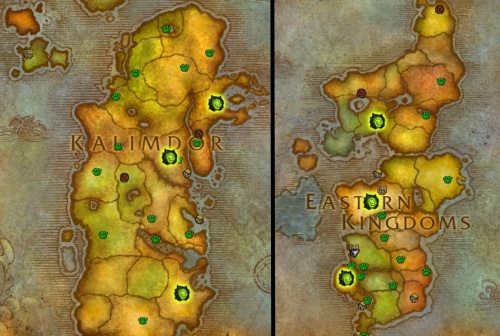Invasion sites in Azeroth