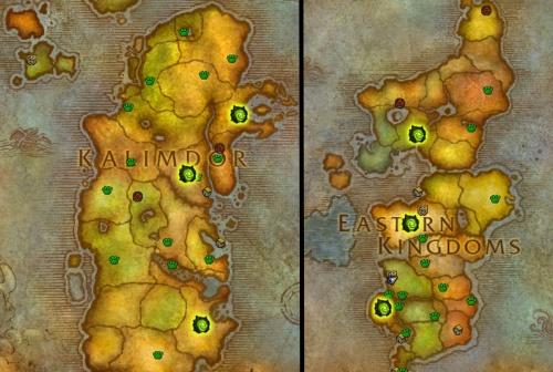 Invasion sites in Azeroth