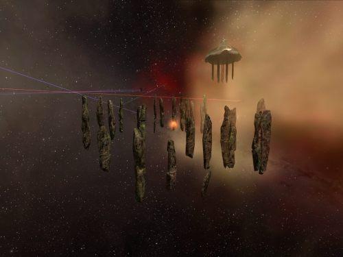 Floating Stonehenge, with lasers