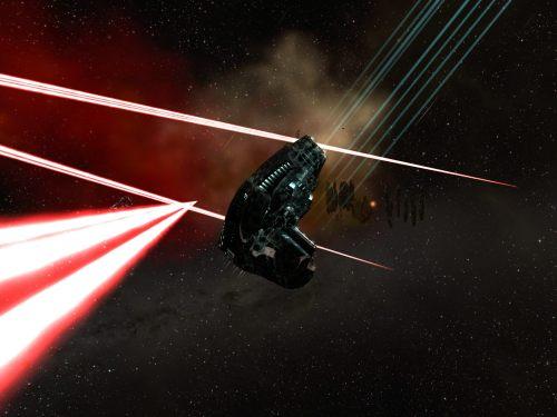Ishtar dodging beams at a Blood Raiders hub