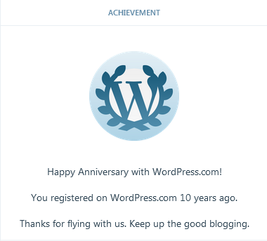 Being there achievement, blogging version
