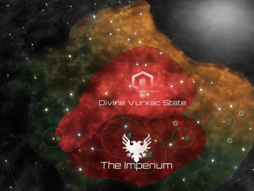 Vying with a neighbor on the galactic map