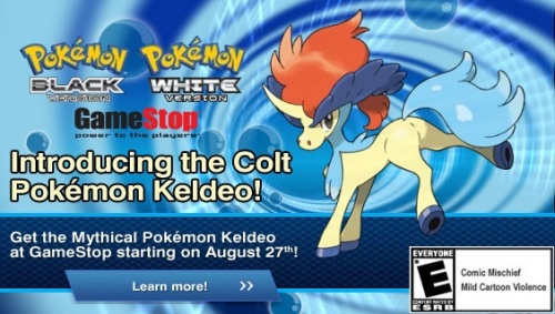 Keldeo's GameStop event