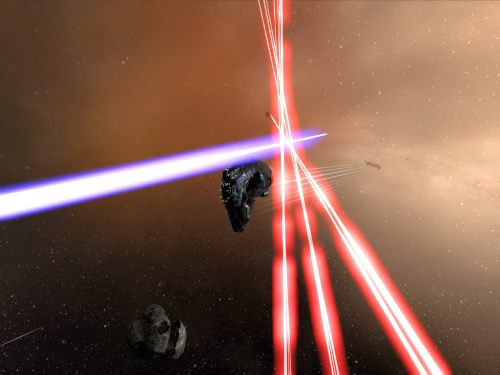Again, lasers are more fun than guns or missiles