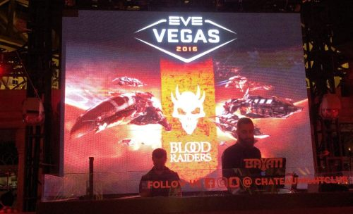 The DJ was pretty spot on picking music for the EVE Vegas crowd