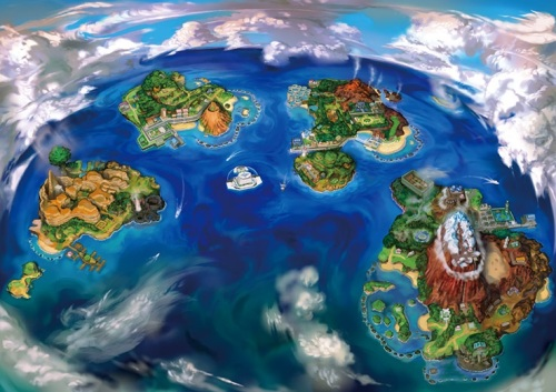 Alola Region Map