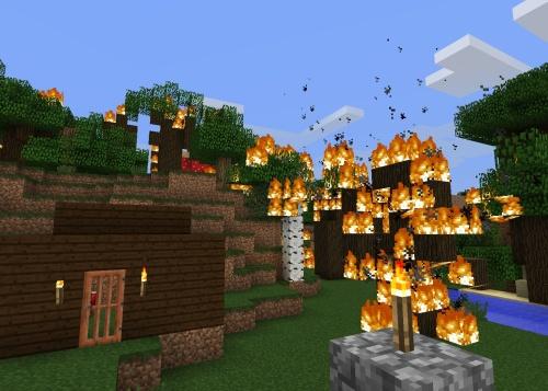 Burn baby burn... also my wood hut
