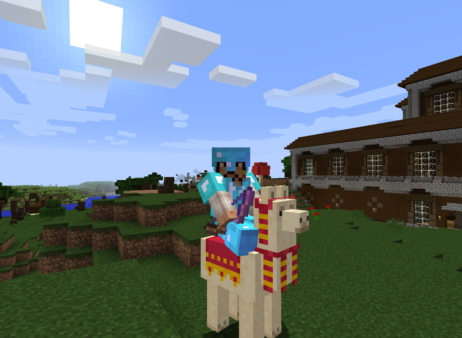 More Minecraft Mansion Fun – Tunnels, Fires, Explosions, and Llamas ...