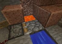 Water, lava, the pistone, and cobblestone