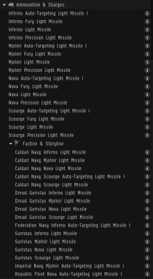 Not shows, defender light missiles