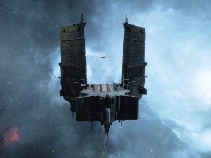 The Keepstar abides, a Fortizar visible between the uprights