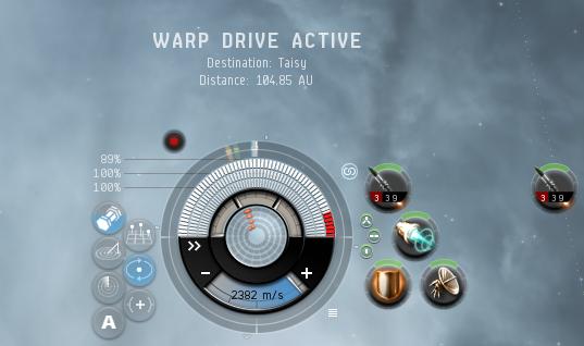 Warp drive active at