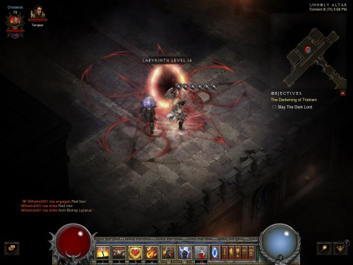 Diablo is somewhere past here... also, cursor glitch again!