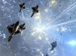 Fighters and a command burst