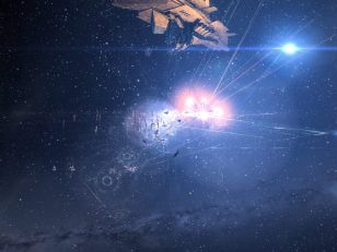Fortizar lit by explosions