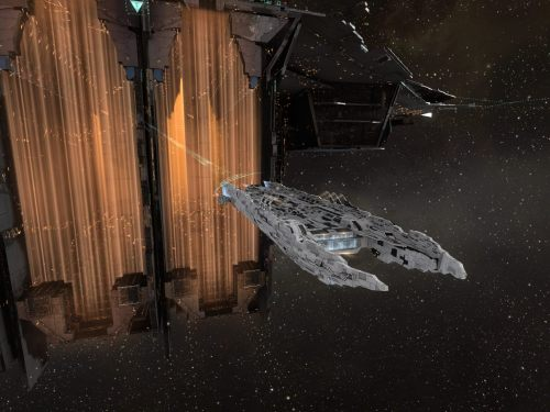 Archon, also in Purity White, hanging off a Fortizar