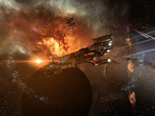 Oneiros orbiting near the fleet