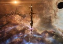Caldari tower being hit