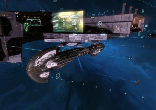 A Redeemer black ops battleship with bridge up