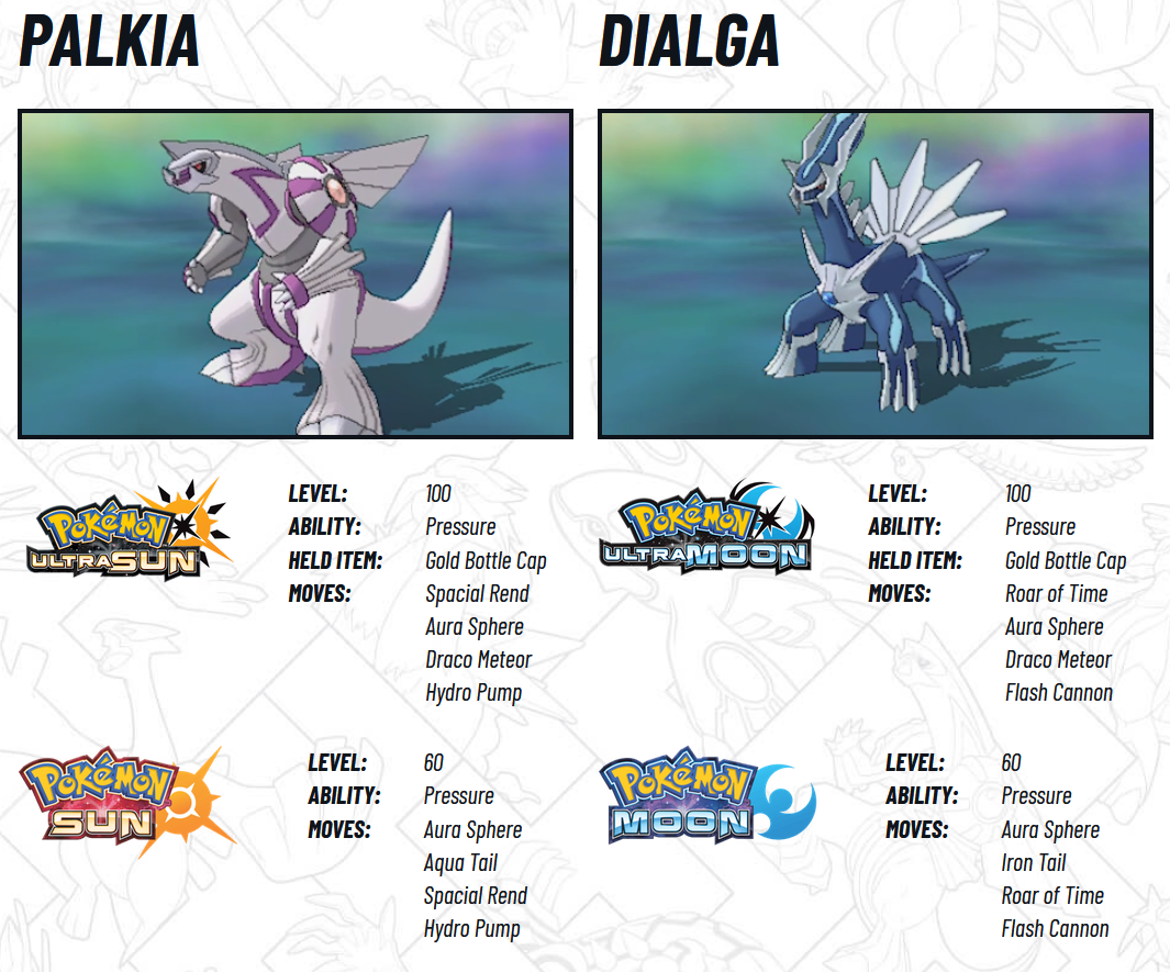 Pokemon Dialga and Palkia GameStop Download Event | The Ancient ...