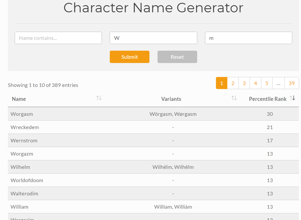 Quadratic Foundry Character Name Generator | The Ancient