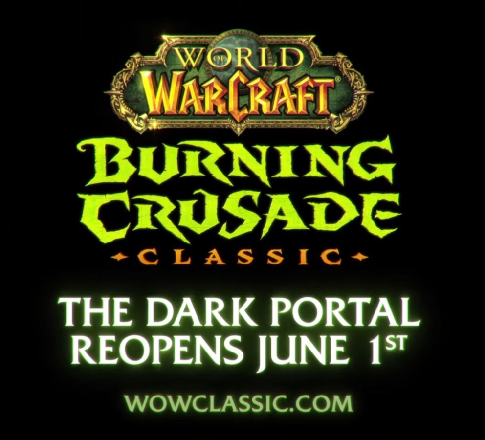 Blizzard Confirms June 1st for Burning Crusade Classic, May 18th for Pre-Expansion Patch